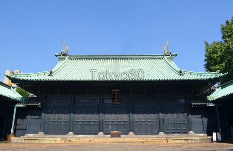 湯島聖堂、重厚な雰囲気を持つ大成殿