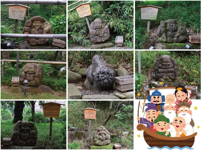 椿山荘の七福神+1