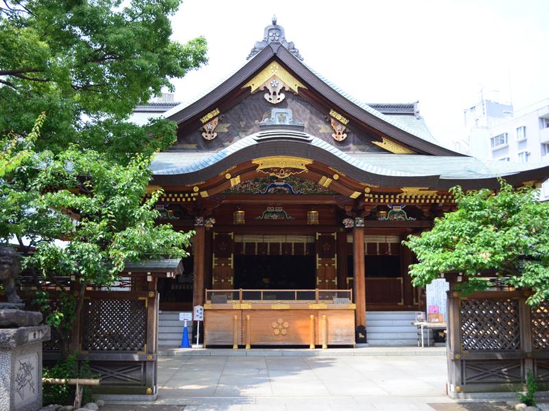 湯島天満宮の新社殿、平成7年に建て替えられました。