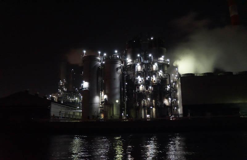 川崎工場夜景クルーズ川崎天然ガス発電所