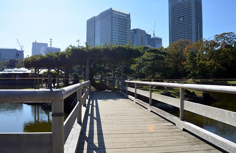 浜離宮恩賜公園、お伝い橋