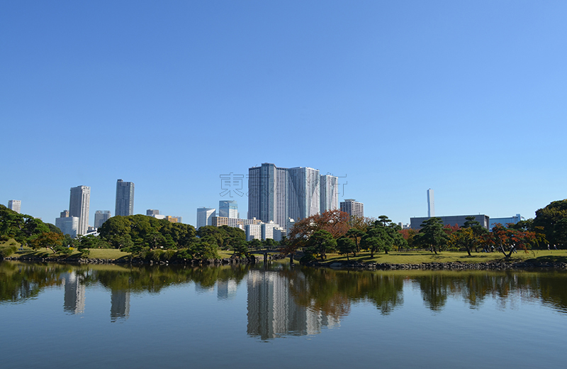 浜離宮恩賜公園、中島の御茶屋からの景色