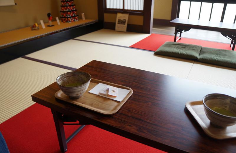 肥後細川庭園の松聲閣(しょうへいかく)和菓子