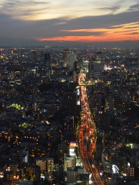 六本木ヒルズ展望台から首都高速