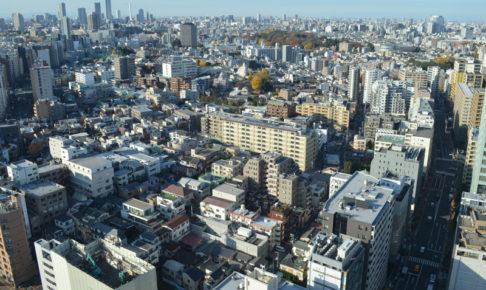 文京区シビックセンター(区役所)展望ラウンジの景色