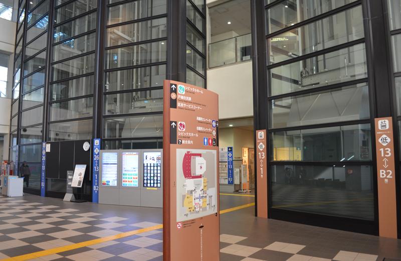 文京区シビックセンター(区役所)エレベーター