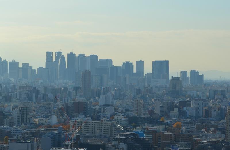文京区シビックセンター(区役所)から新宿高層ビル