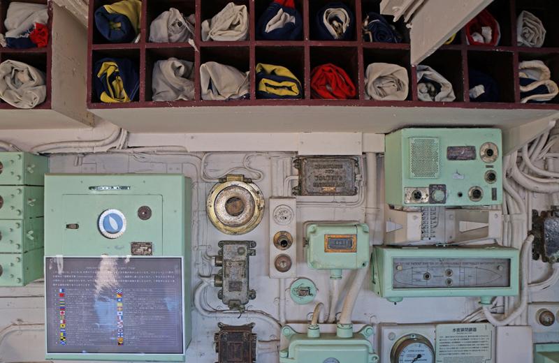 横浜山下公園氷川丸の操縦室