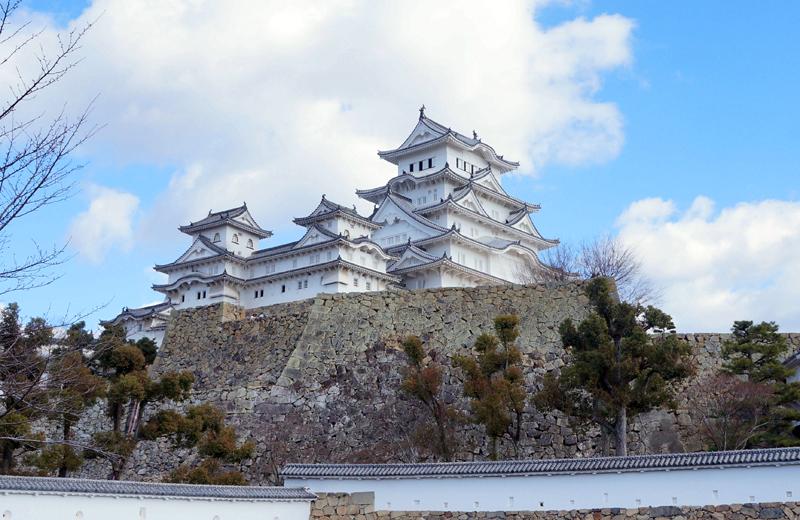 姫路城内。三国掘から見る姫路城