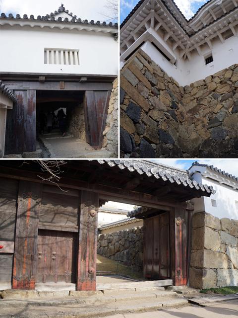 城内に造られた、たくさんの門と城壁