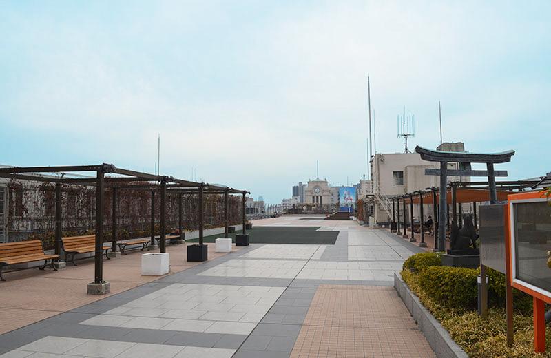 浅草ハレテラス:かつては遊園地だっただけに、かなり広い