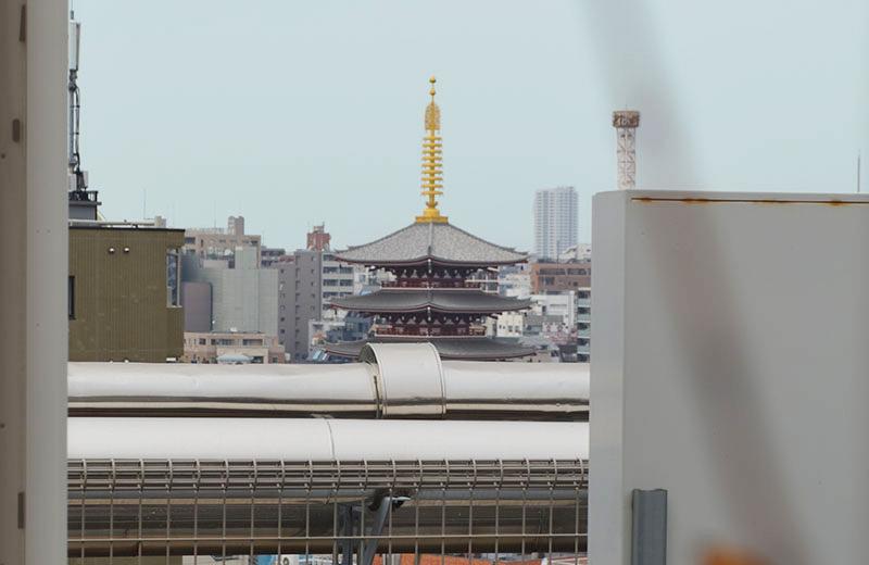 浅草ハレテラス:浅草寺だって、見えないことはない……