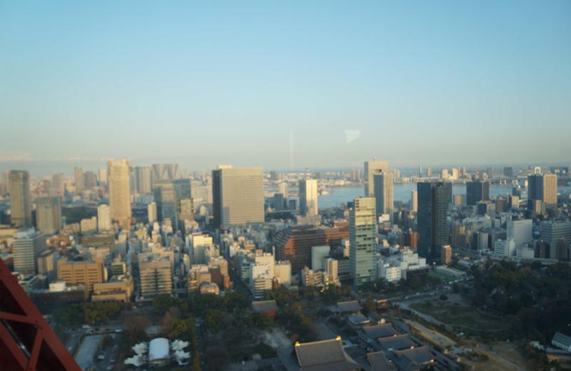 東京タワー、プラットフォームからの景色。