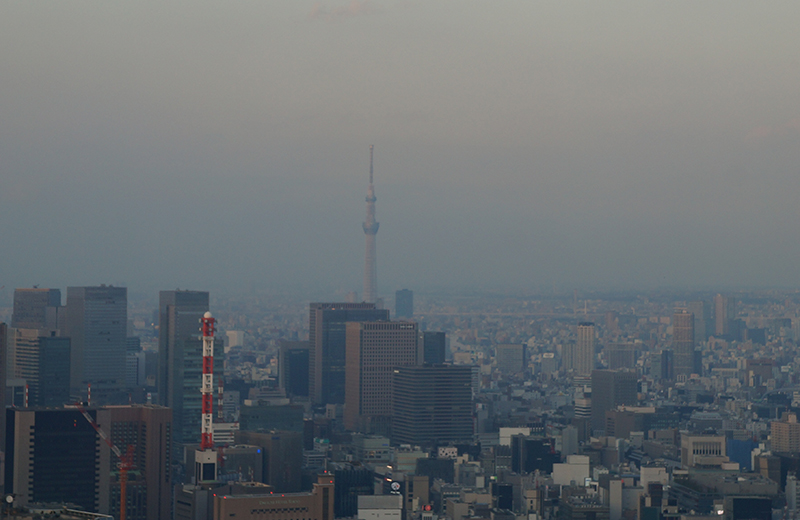 東京タワーから東側、東京スカイツリー
