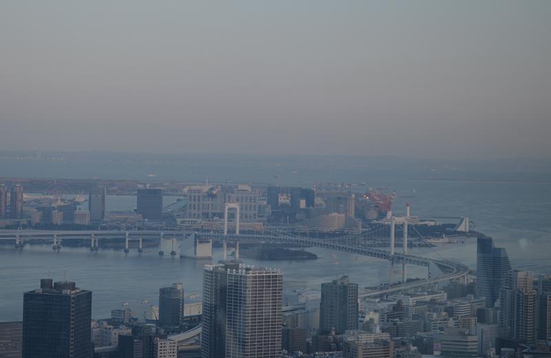 東京タワー南側、お台場