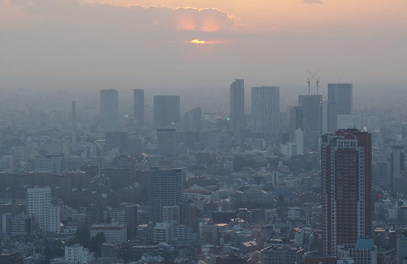 東京タワー西側、新宿ビル群