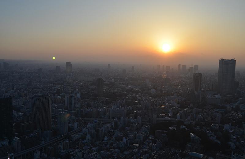 東京タワートップデッキからの夕焼け