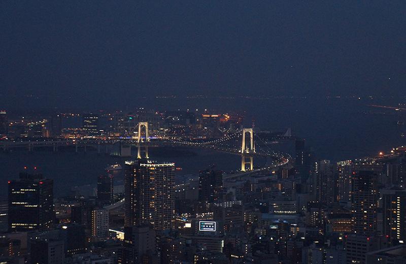 東京タワートップデッキ、夜の景色