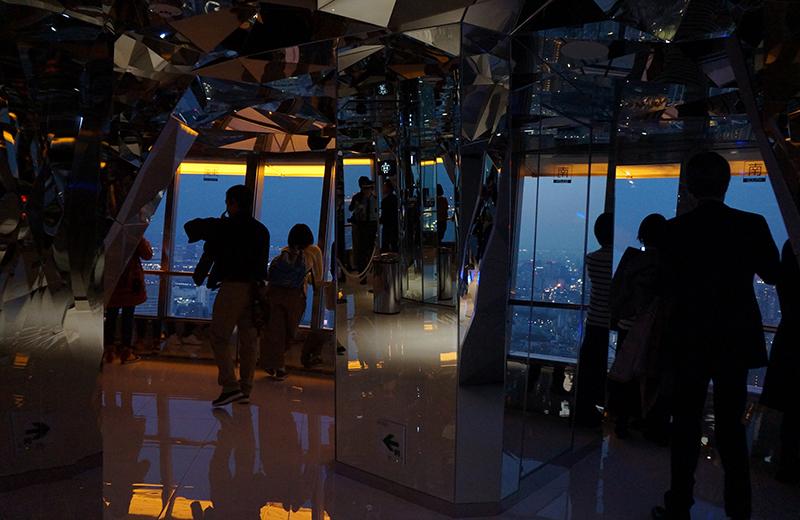 東京タワー、トップデッキ
