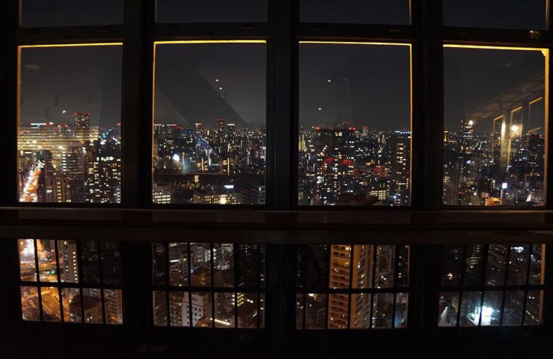 東京タワー、カフェからの夜景