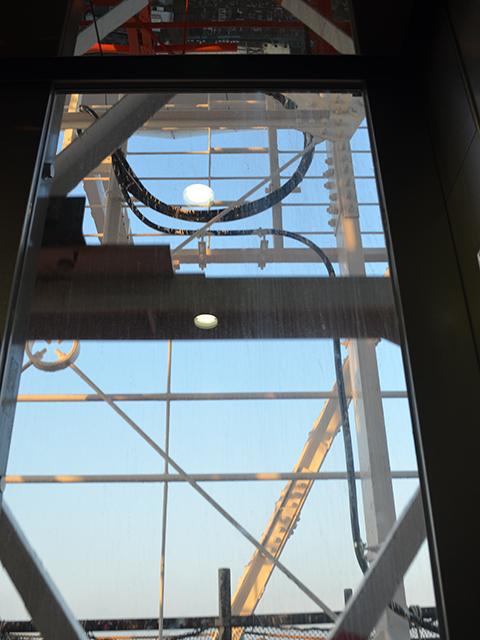 東京タワー、エレベーター内