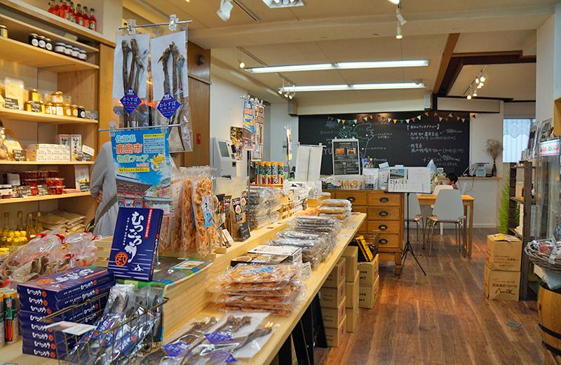 cafe&shop 九州堂▲九州産の商品がいっぱい