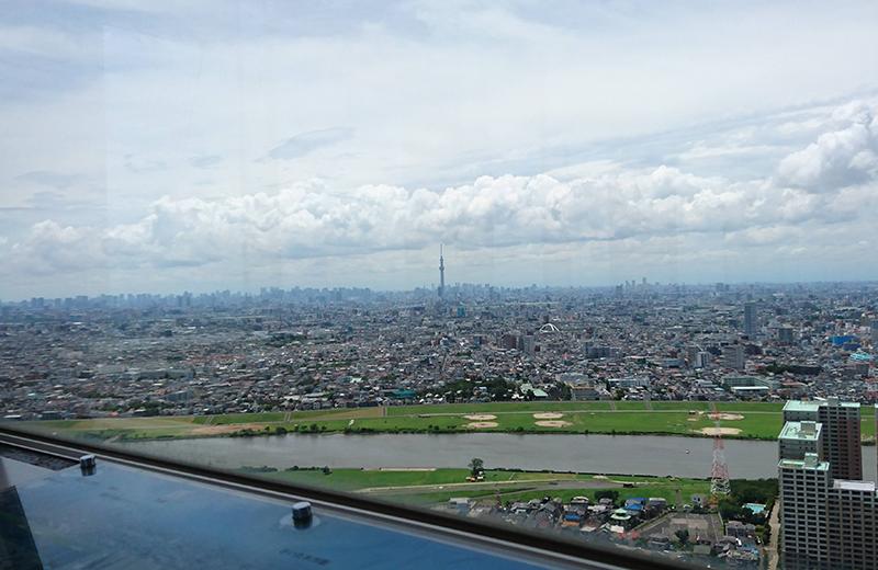 ▲西側、東京スカイツリーが見えます/アイ・リンクタウンいちかわ