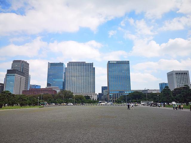 皇居前広場周辺の高層ビル