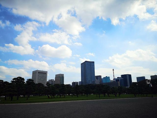 皇居前広場近くの東京ミッドタウン日比谷