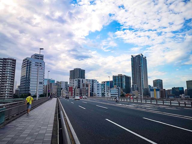 佃大橋(つくだおおはし):何時間かかる?隅田川12橋+2橋を、真夏一人で歩いてみました
